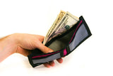 Black Wallet with Grey and Hot Pink card slots