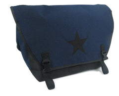 Navy and Black Waterproof Messenger Bag