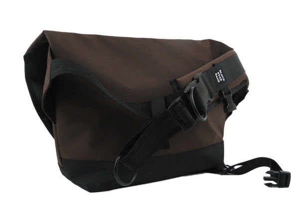 Dark Brown and Black Waterproof Messenger Bag