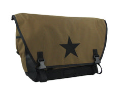 Coyote Brown and Black Waterproof Messenger Bag