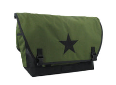 Olive and Black Waterproof Messenger Bag