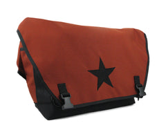 Rust and Black Waterproof Messenger Bag