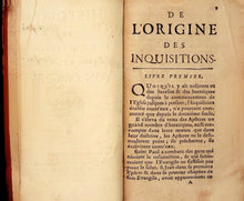 Load image into Gallery viewer, MARSOLLIER(J.) History of the Inquisition and its origin. Original edition.