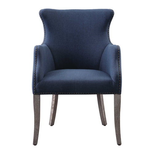 Crystal Blue Wing Chair