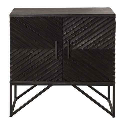 Francis Ebony Accent Cabinet