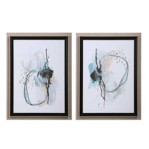 La Jolla Abstract Art Set of 2