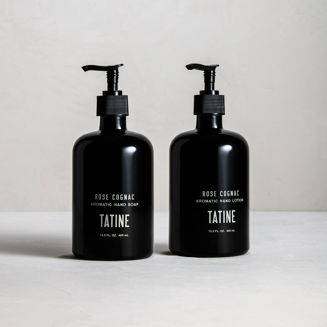 Tatine Rose Cognac Hand Soap & Lotion Set