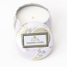 Load image into Gallery viewer, PANJORE LYCHEE PETITE TIN CANDLE