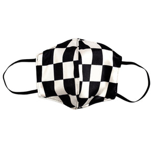 Totally Checkered 3 Layer Washable Face Mask with Filter