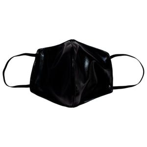 Naughty Black 3 Layer Washable Face Mask with Filter