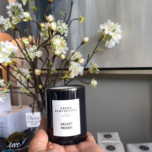 London Velvet Peony Candle Luxury Mini Candle
