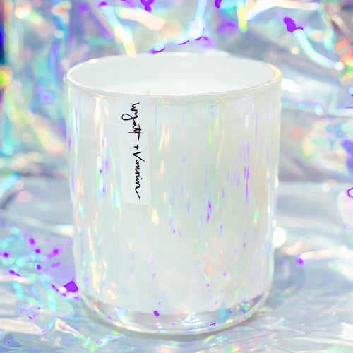South Laguna White Iridescent Candle