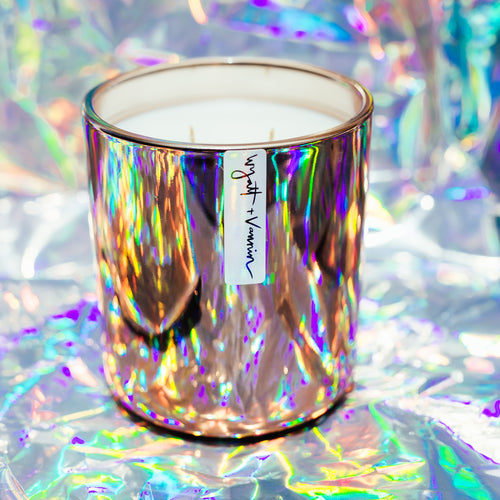 Cathedral Copper Iridescent Candle