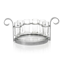 Load image into Gallery viewer, Silver Del Mar Tequila Shots Tray