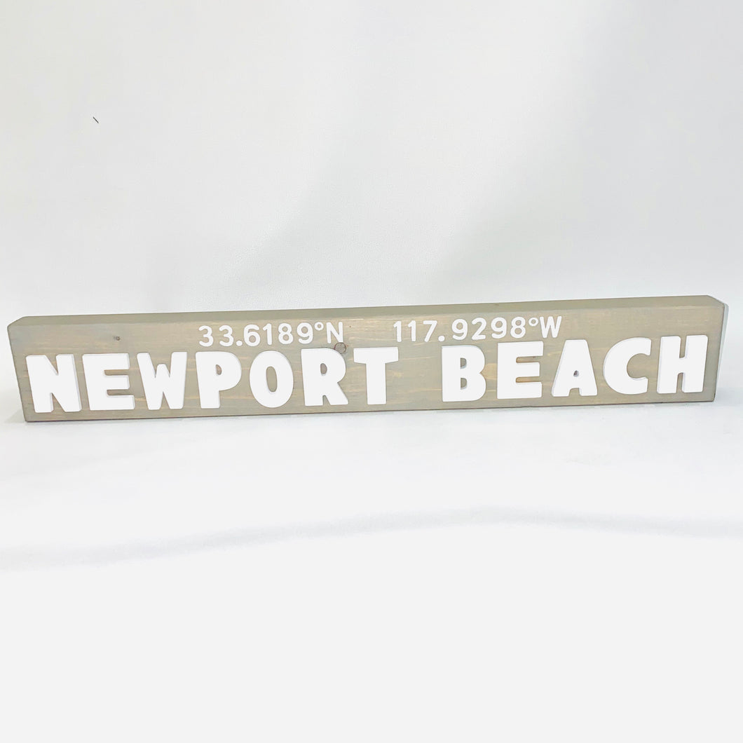 Hand Crafted Newport Beach Sign