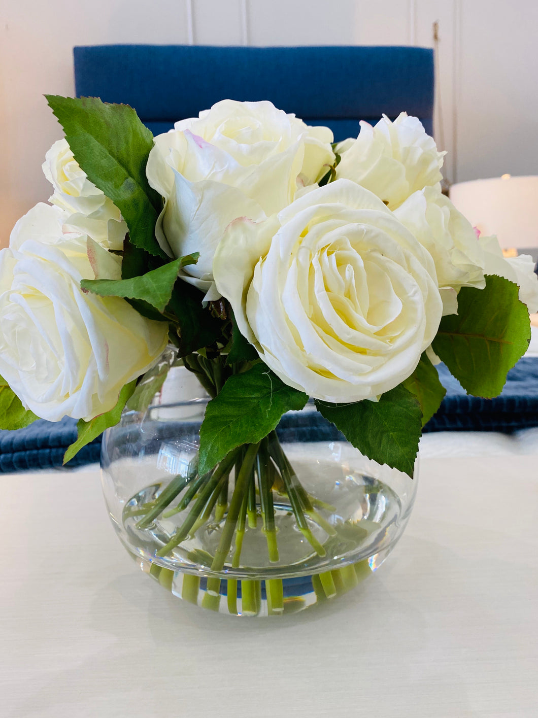 Simply Roses Snowball Arrangement