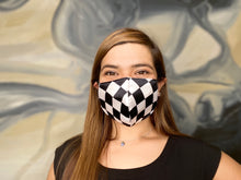 Load image into Gallery viewer, Totally Checkered 3 Layer Washable Face Mask with Filter