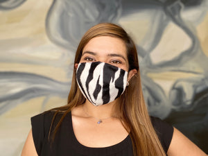 Exotic Zebra 3 Layer Washable Face Mask with Filter