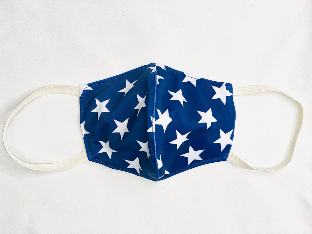 Summer Stars 3 Layer Washable Face Mask with Filter