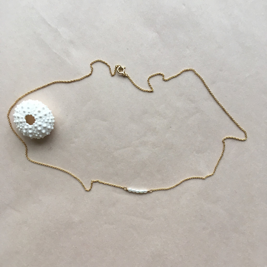 Mermaid necklace, gold
