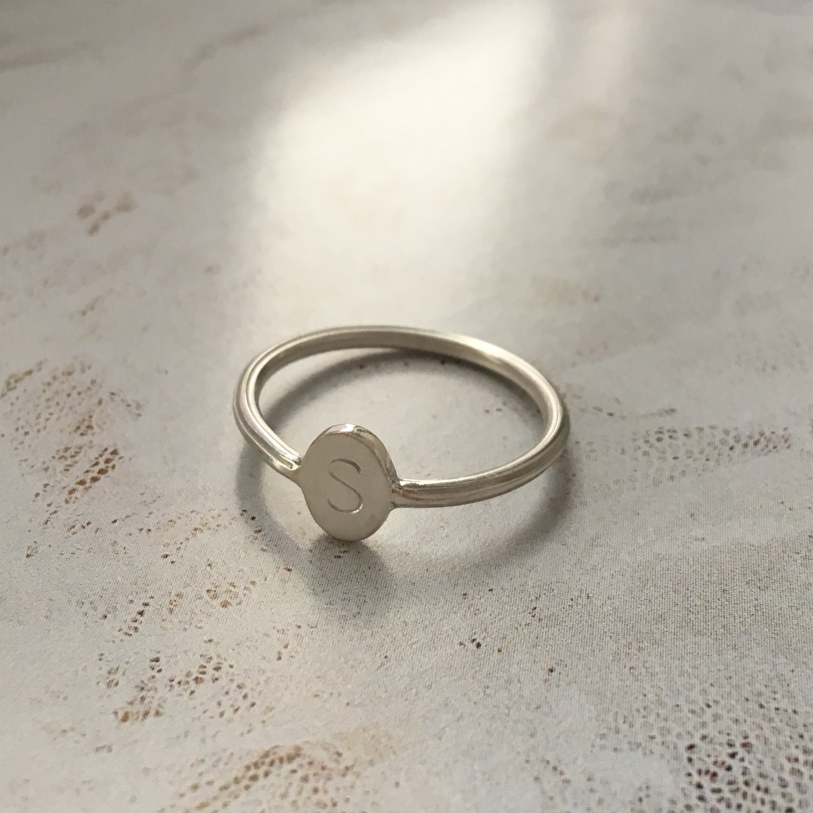 Forget Me Not ring, silver