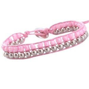 Armband Sweet Pink Zilver