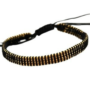 Trendy armbandje 4 line ball chain zwart