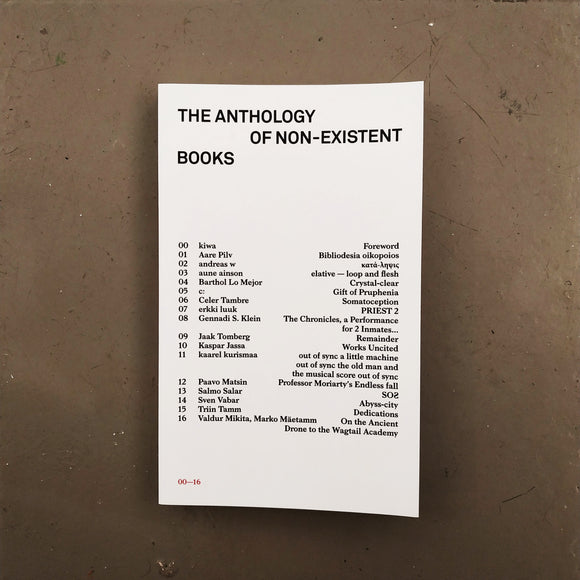 The Anthology of Non-Existing Books  · libro
