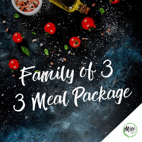 Family of 3: 3 Meal Packages