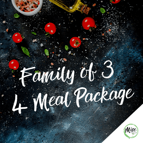 Family of 3: 4 Meal Packages