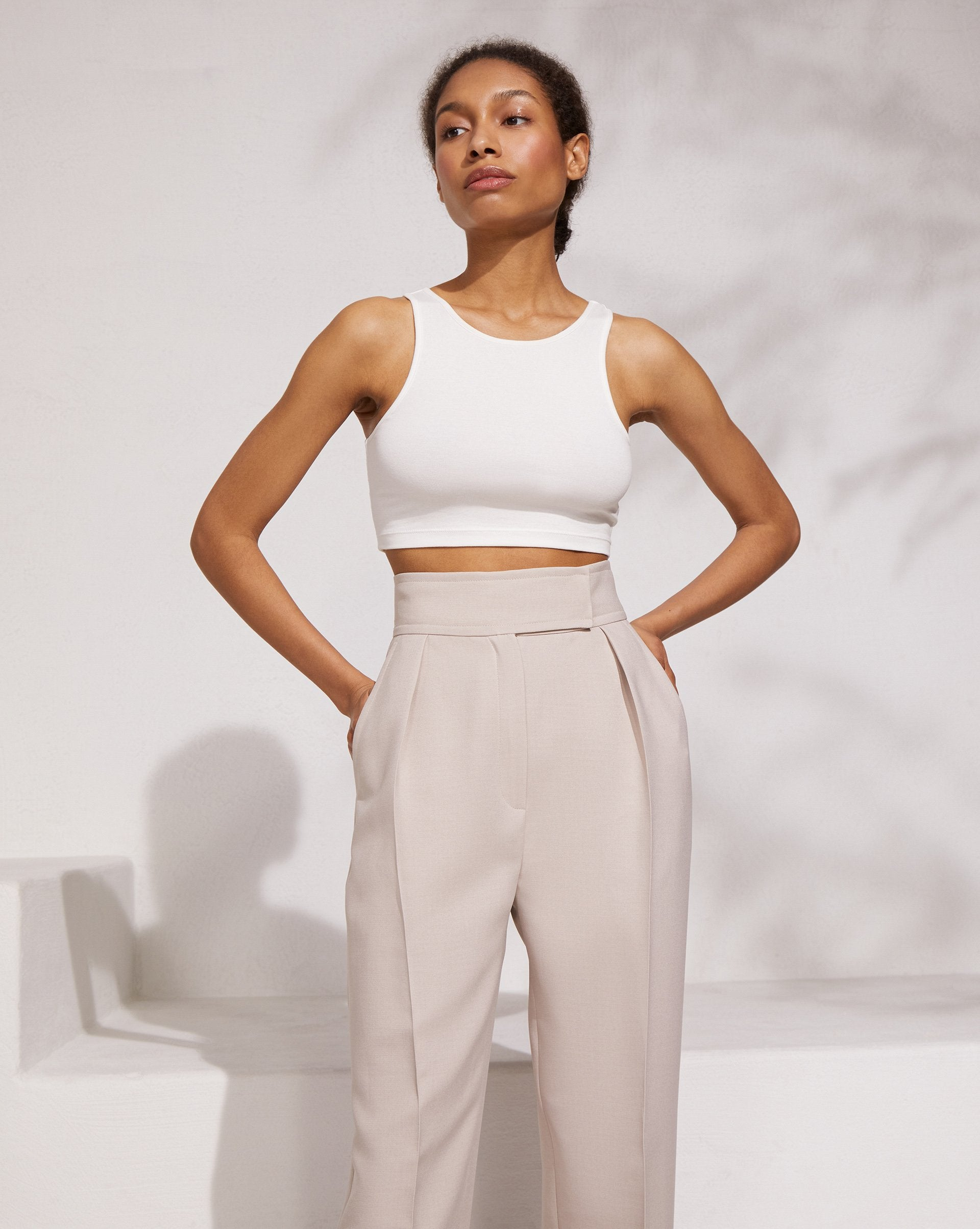 High rise cropped trousers - 12 STOREEZ