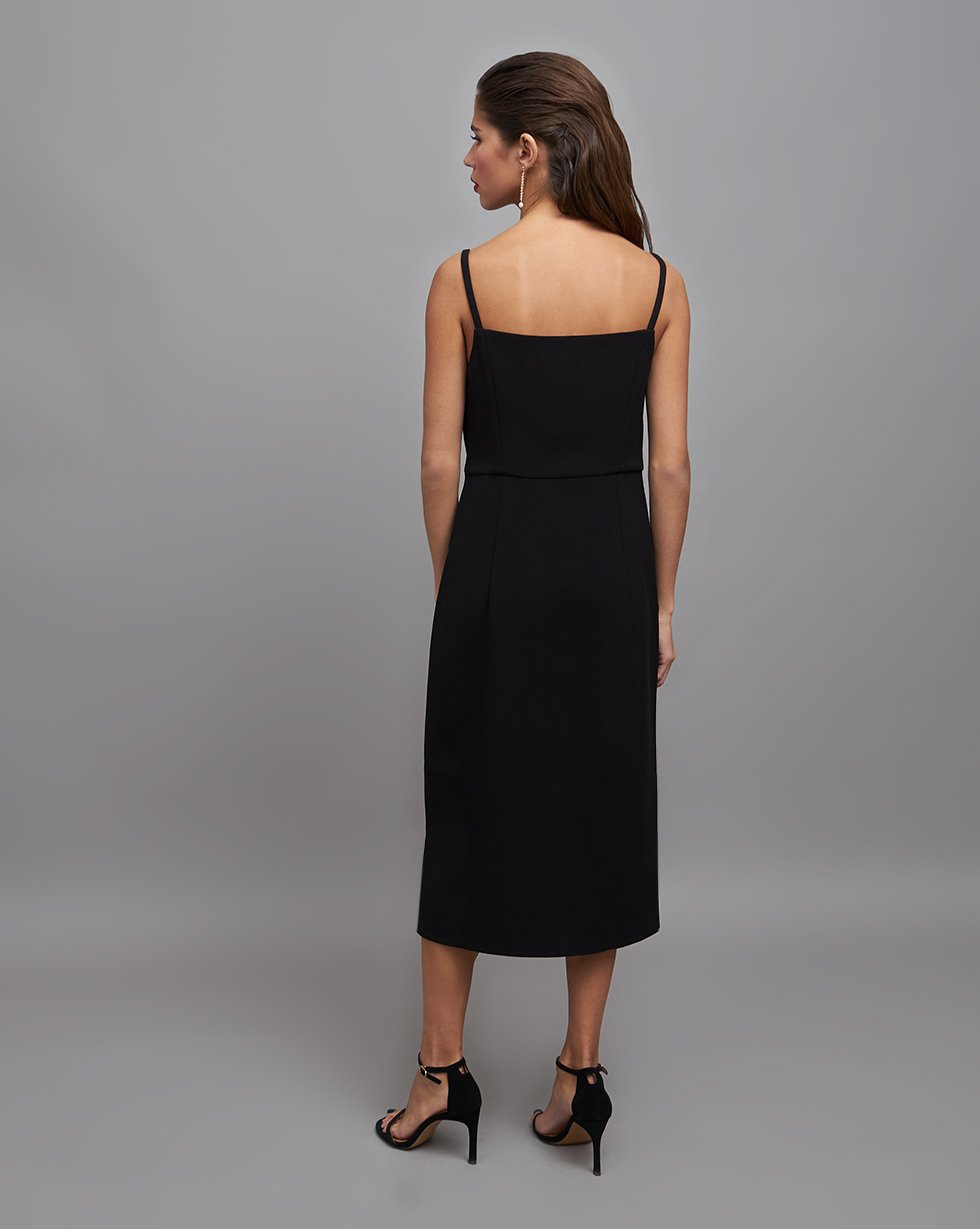 Dress with straps and slits - 12 STOREEZ