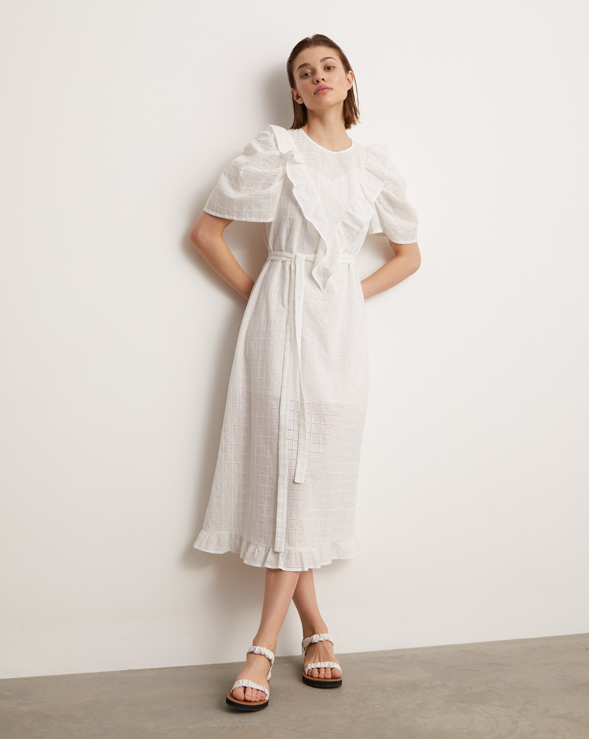 Ruffled broderie dress - 12 STOREEZ