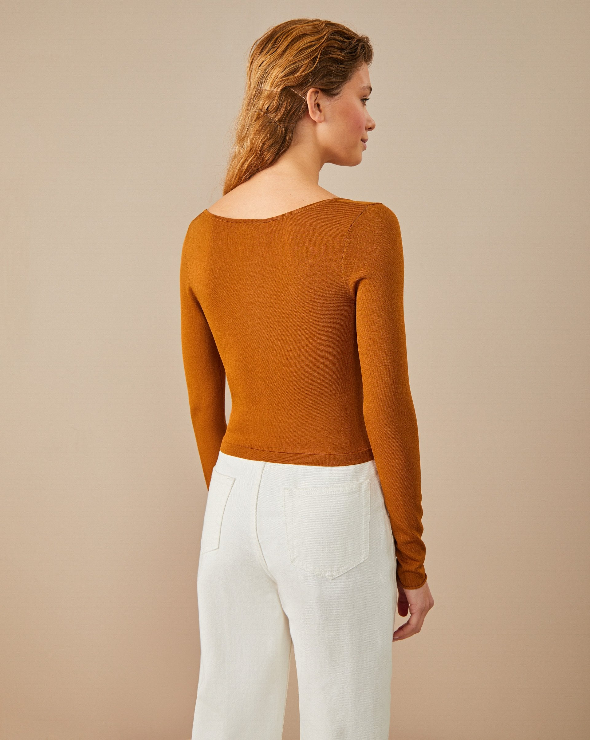 Low-cut cropped jumper - 12 STOREEZ