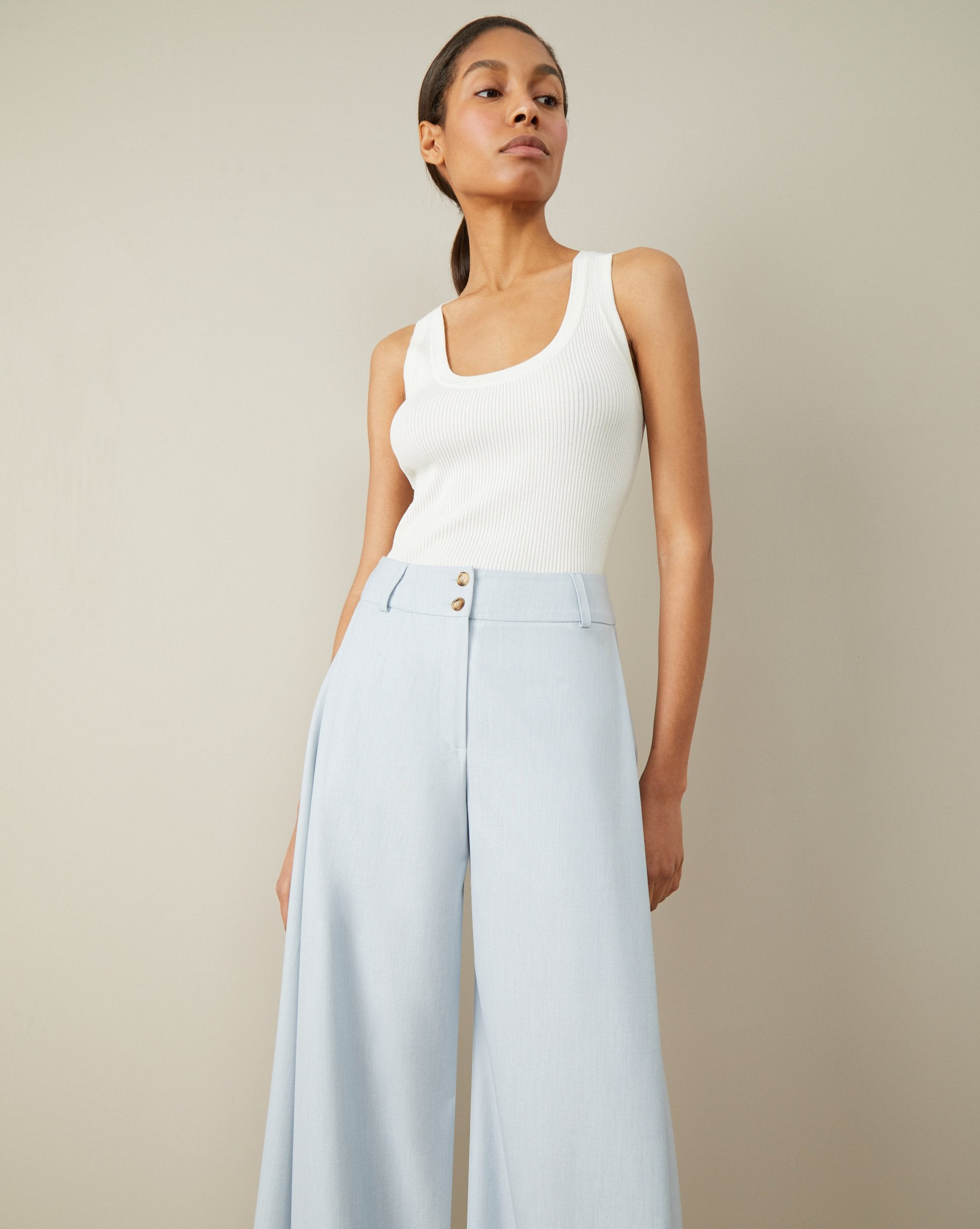 Wide straight trousers - 12 STOREEZ