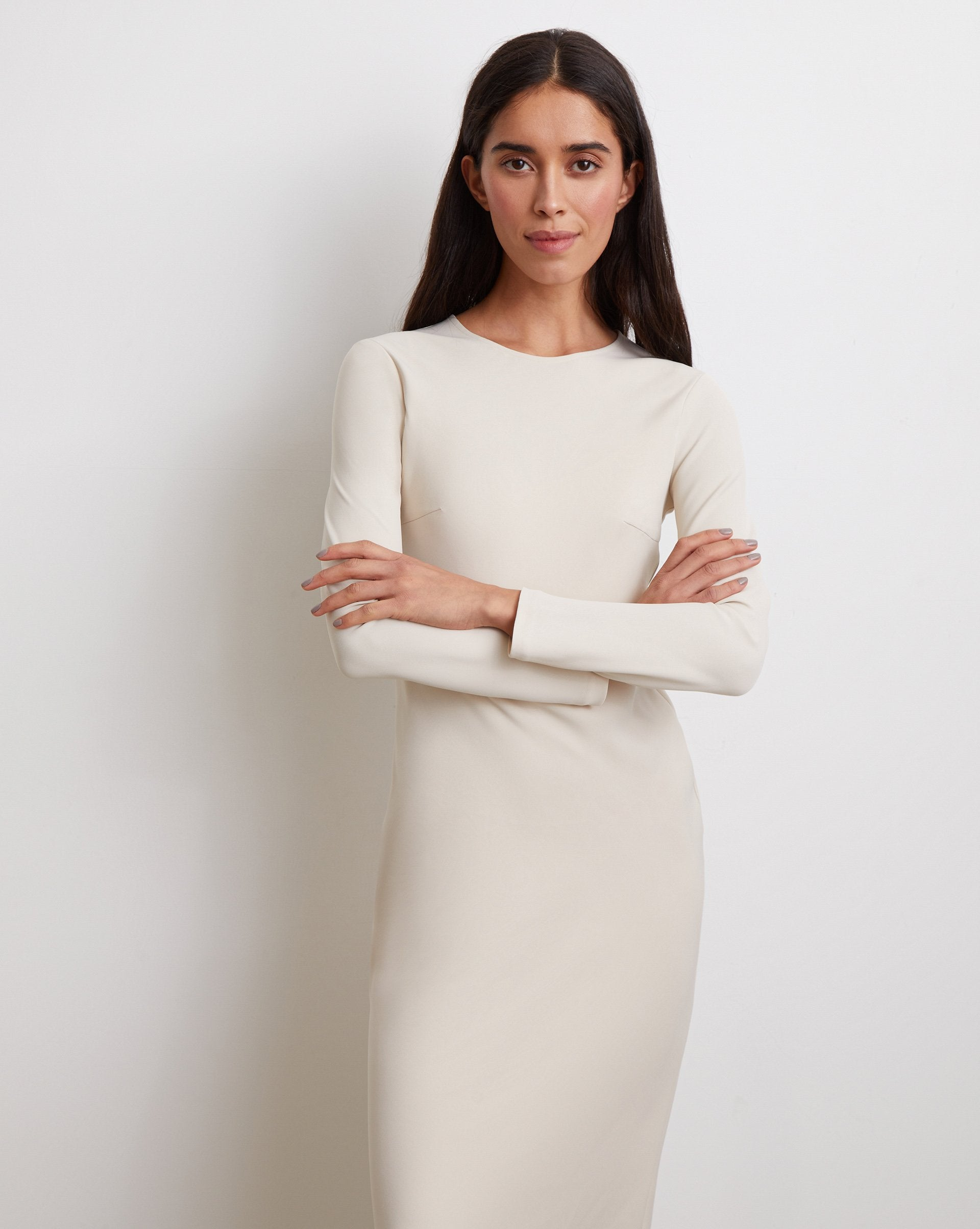 Zipped sleeve midi dress - 12 STOREEZ