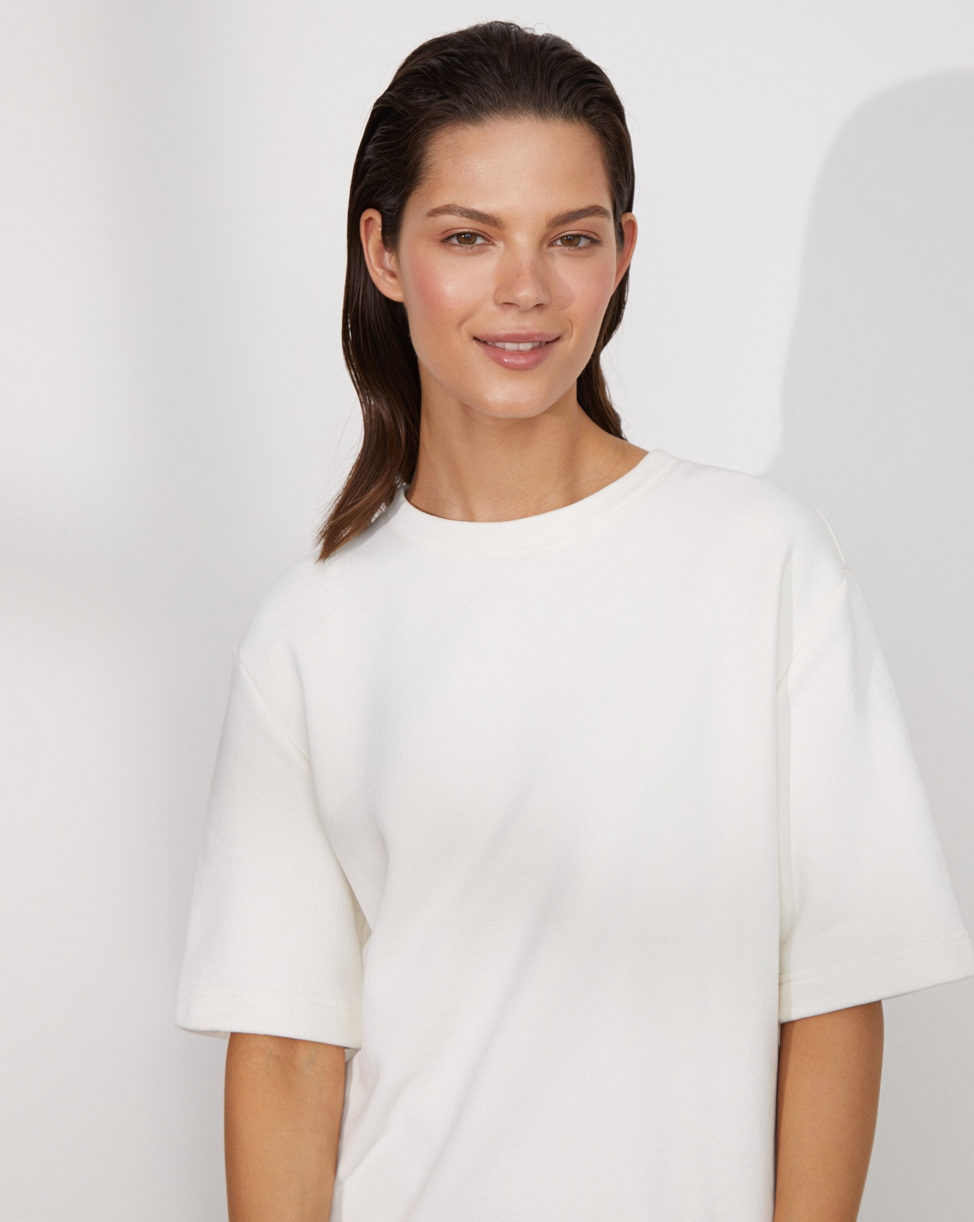 Oversized cotton blend T-shirt - 12 STOREEZ