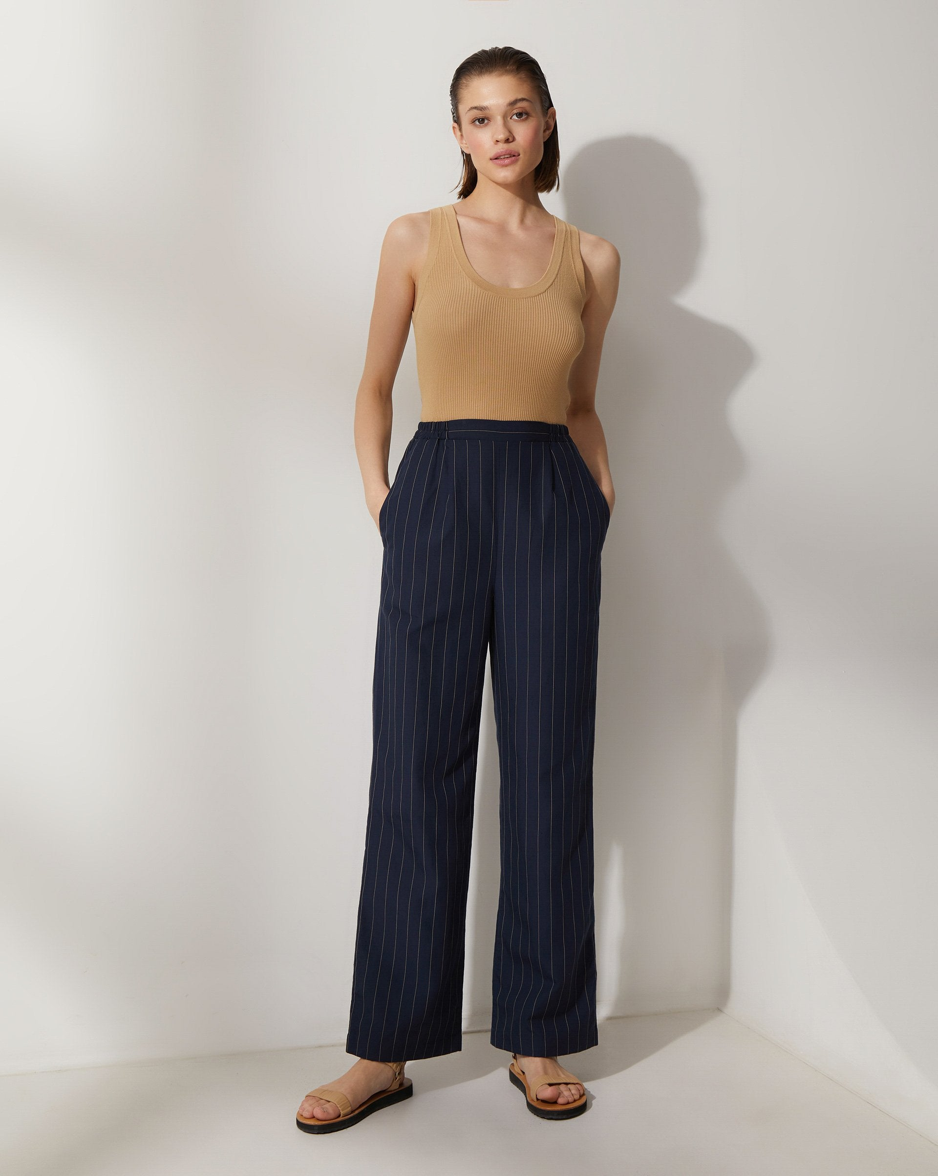 Striped wide leg trousers - 12 STOREEZ