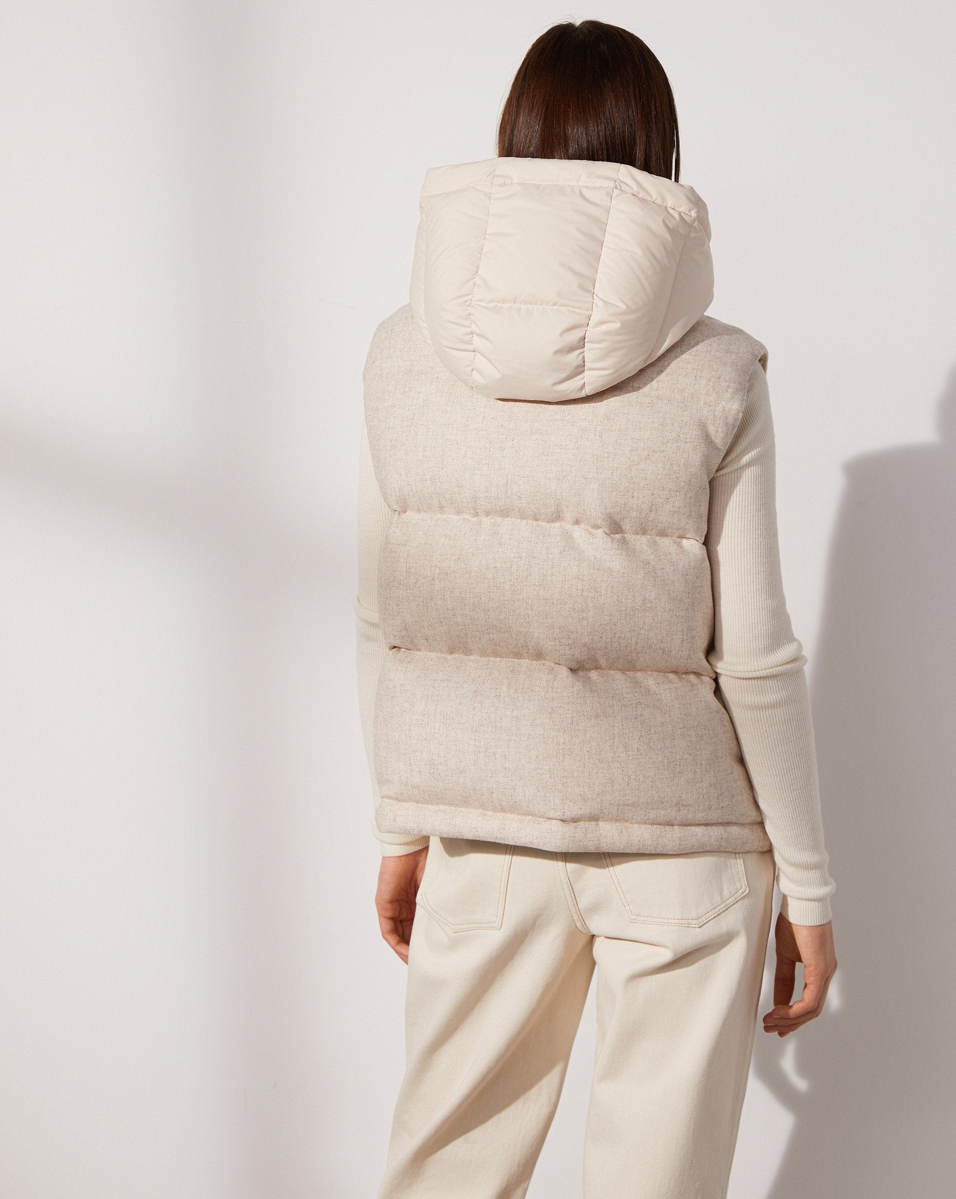 Hooded wool puffer vest - 12 STOREEZ