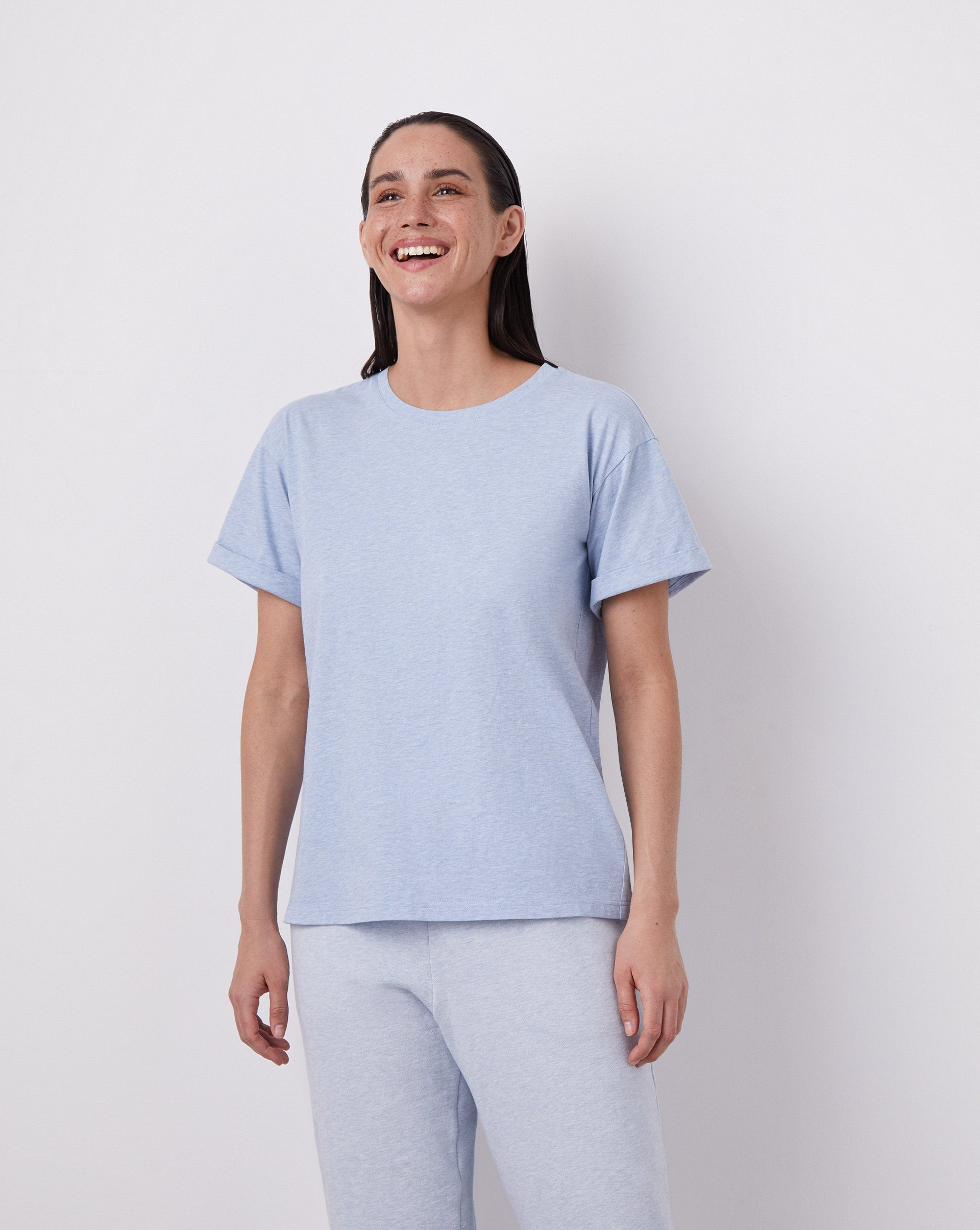 Roll up sleeve oversized T-shirt - 12 STOREEZ