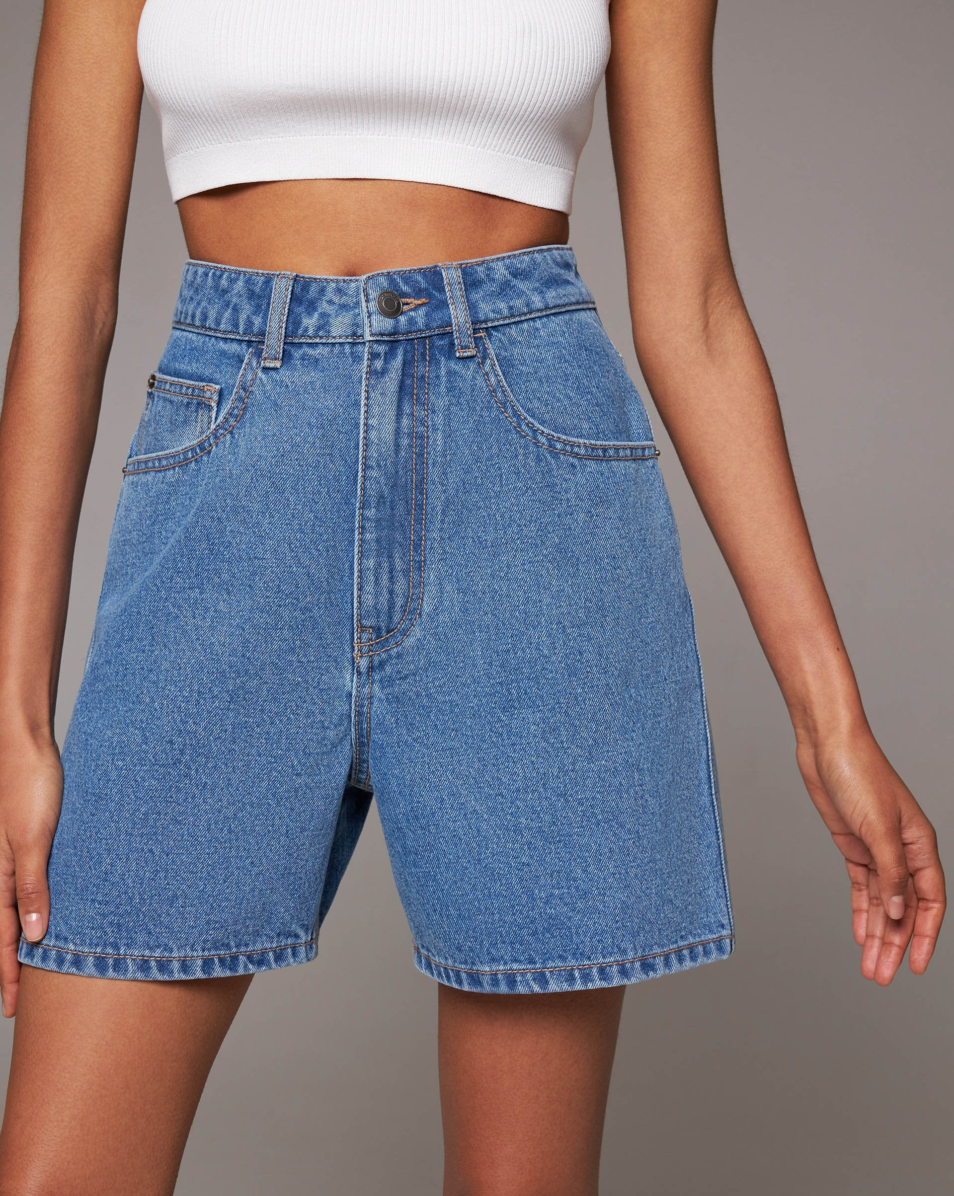 High rise denim shorts - 12 STOREEZ