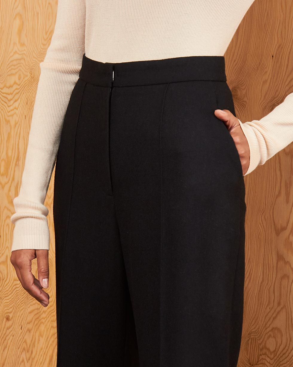 Side slit wool trousers - 12 STOREEZ