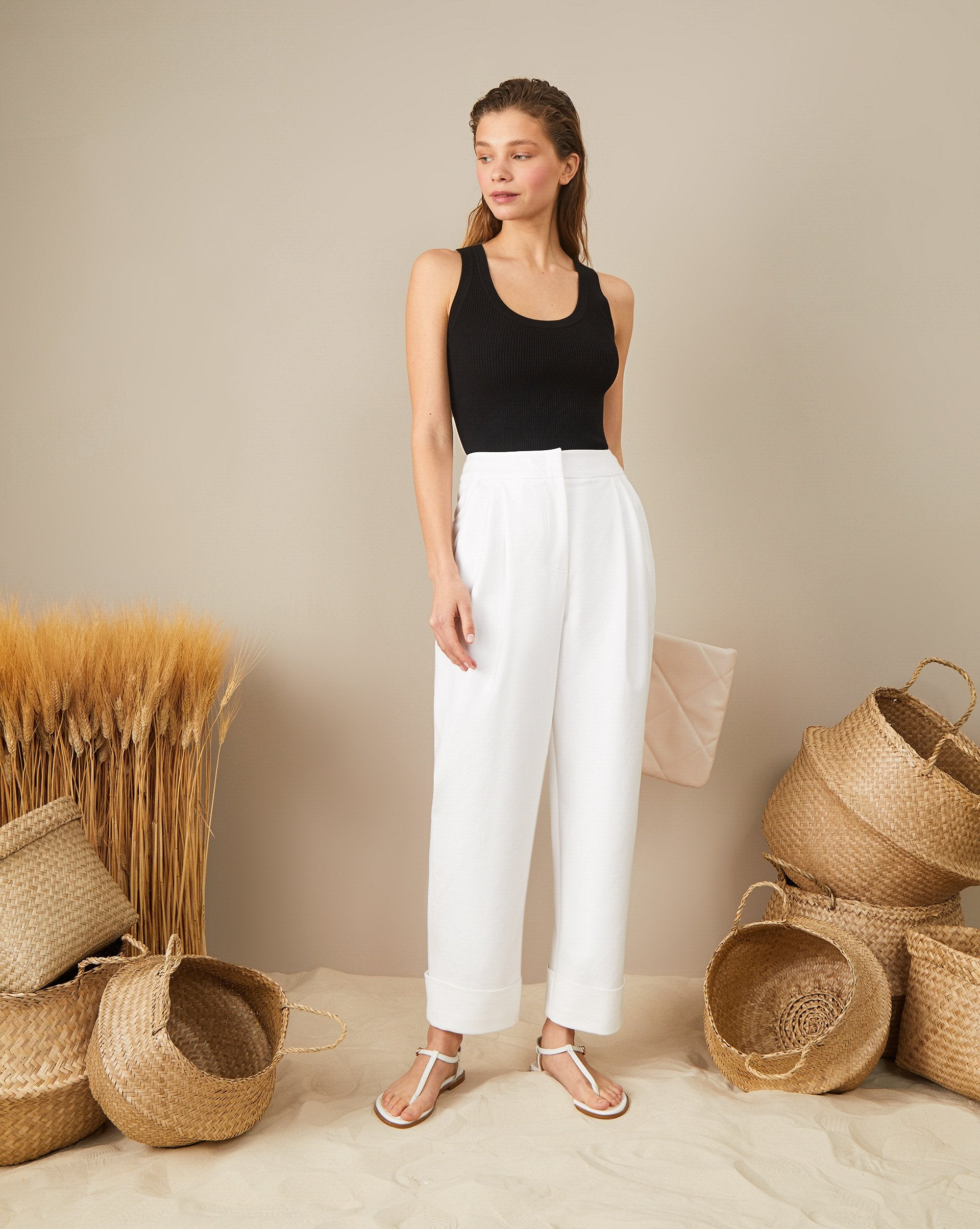 Wide cuff cropped trousers - 12 STOREEZ