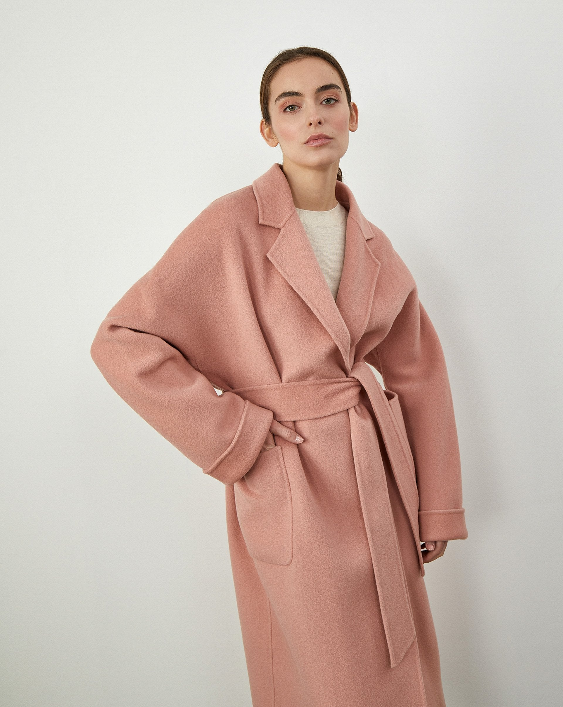 Belted coat with patch pockets - 12 STOREEZ