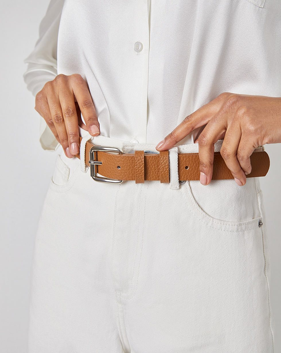 Textured-leather belt - 12 STOREEZ