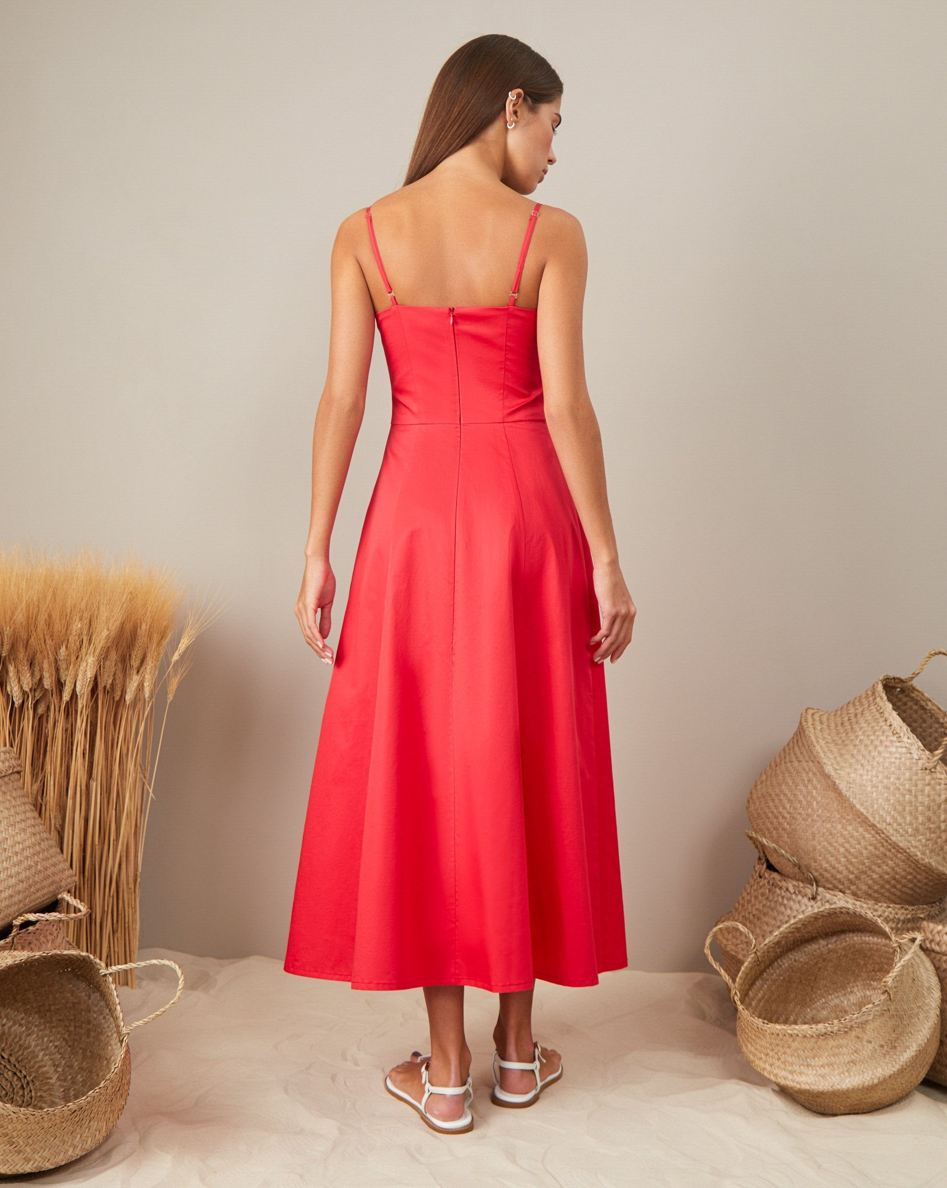 Sundress with thin straps - 12 STOREEZ
