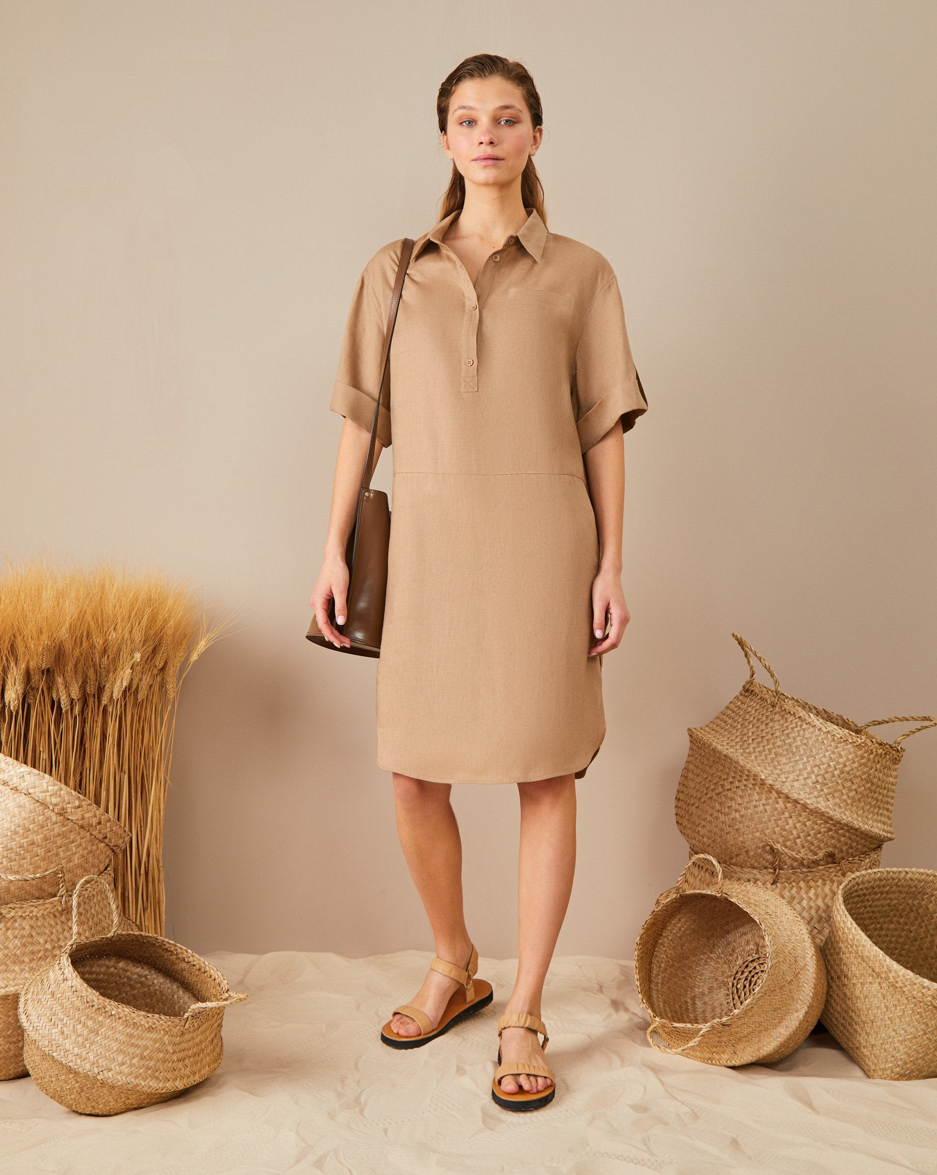 Midi shirt dress - 12 STOREEZ