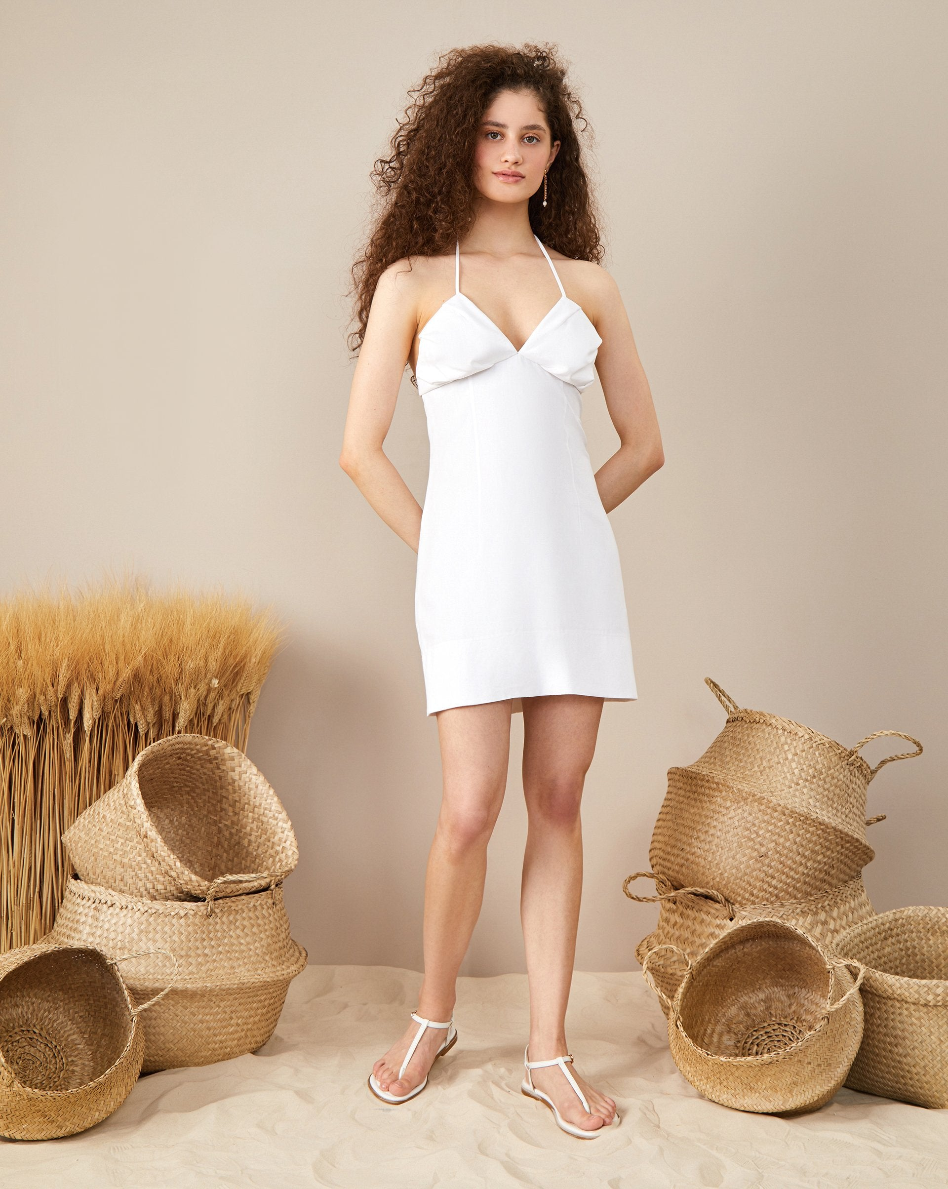 Spaghetti strap mini sundress - 12 STOREEZ