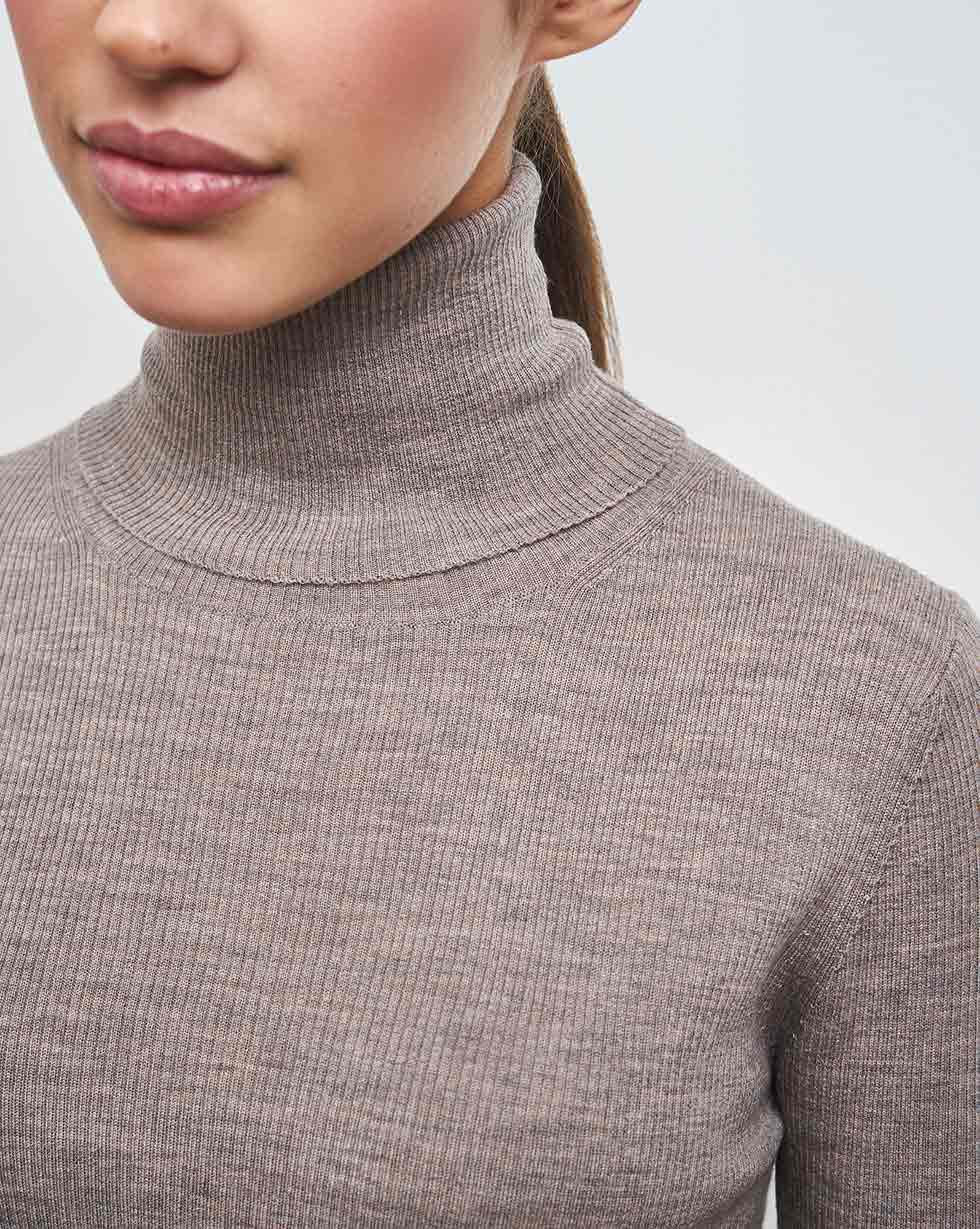 Ribbed fine knit turtleneck jumper - 12 STOREEZ