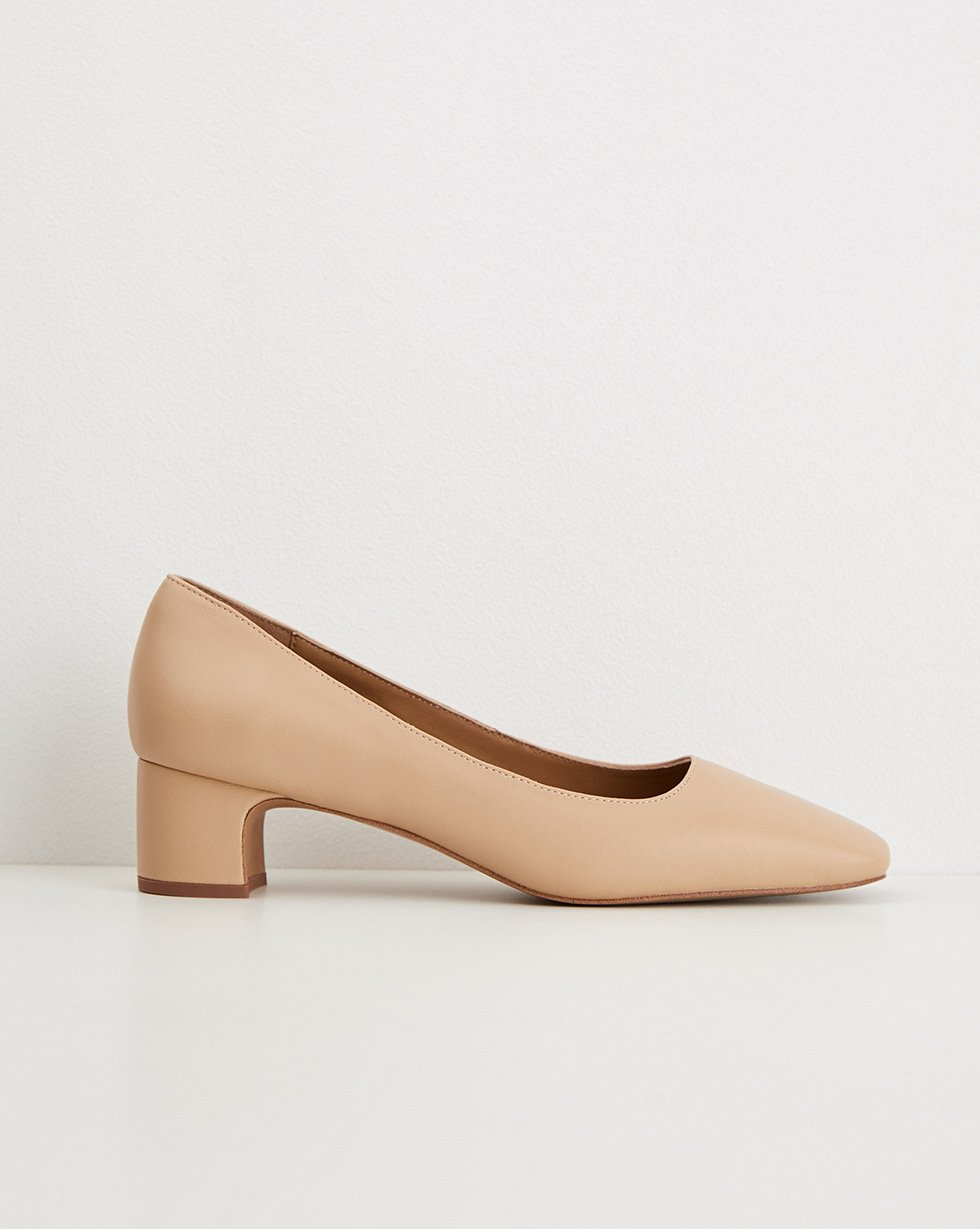 Mid-heel square toe pumps - 12 STOREEZ